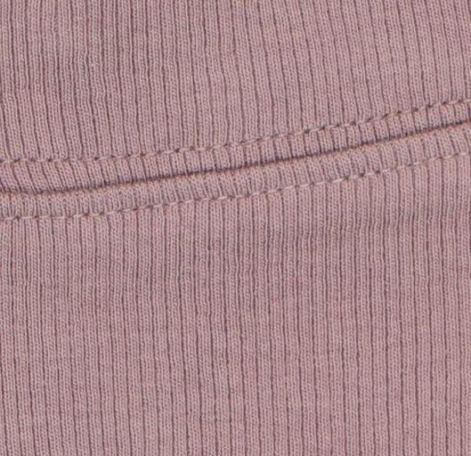 newbornbroek rib met bamboe paars paars - 1000020599 - HEMA