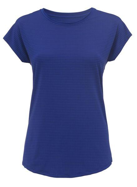 dames sport t-shirt blauw - 1000002970 - HEMA