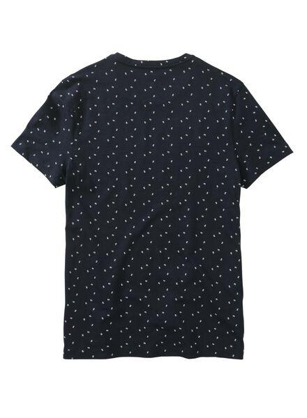 heren t-shirt blauw blauw - 1000011521 - HEMA