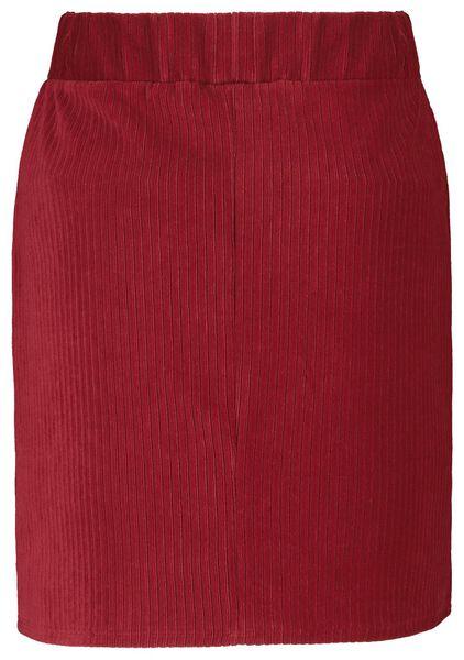 damesrok corduroy rib rood L - 36229873 - HEMA