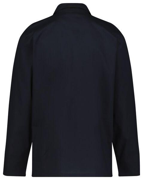 herenpyjama poplin donkerblauw XXL - 23600074 - HEMA