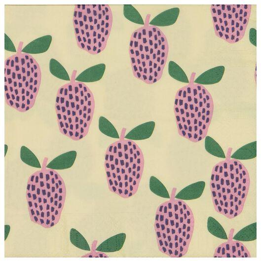 servetten 33x33 papier fruit - 20 stuks - 14200461 - HEMA