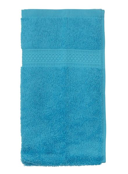 gastendoek - 30 x 55 cm - zware kwaliteit - aqua aqua gastendoekje - 5202605 - HEMA