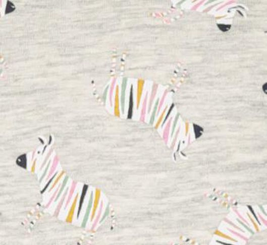 kindernachthemd zebra grijsmelange grijsmelange - 1000020701 - HEMA