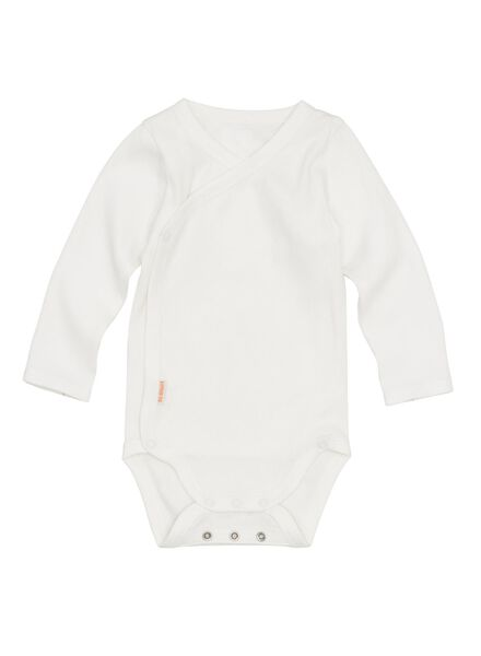 newborn-prematuur overslagromper bamboe stretch wit wit - 1000013399 - HEMA