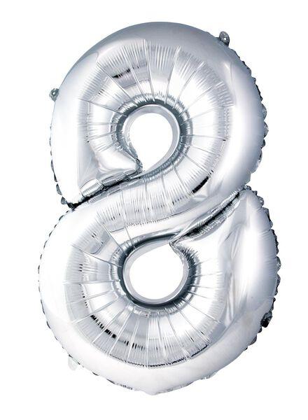 XL folie ballon cijfer 8 - 60800160 - HEMA