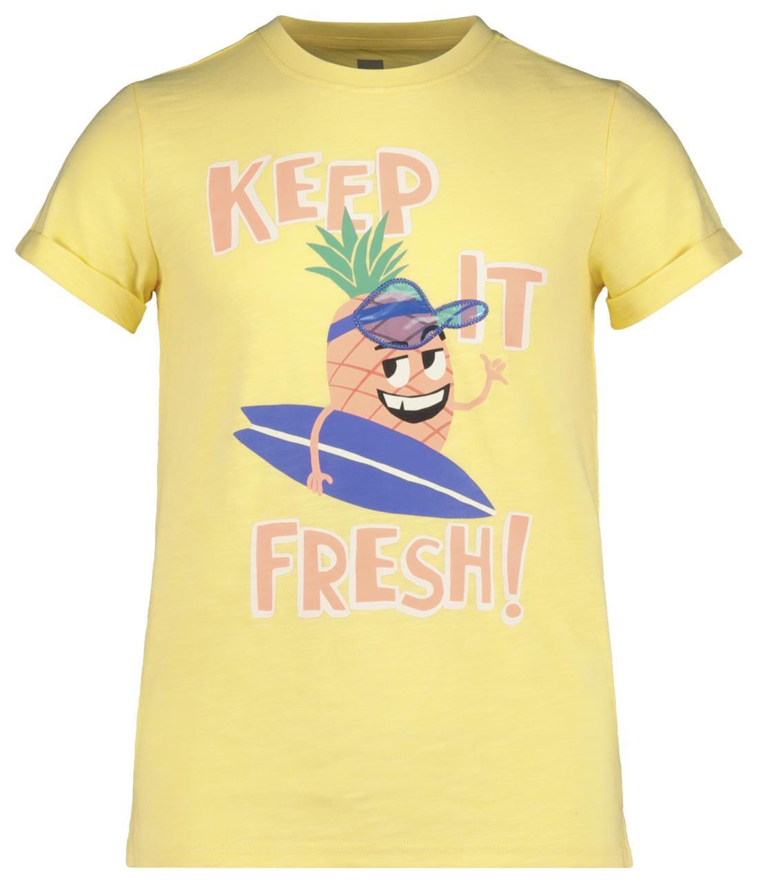 HEMA Kinder T-shirt Geel (geel)