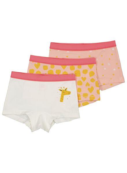 3-pak kinderknickers met bamboe roze roze - 1000014992 - HEMA