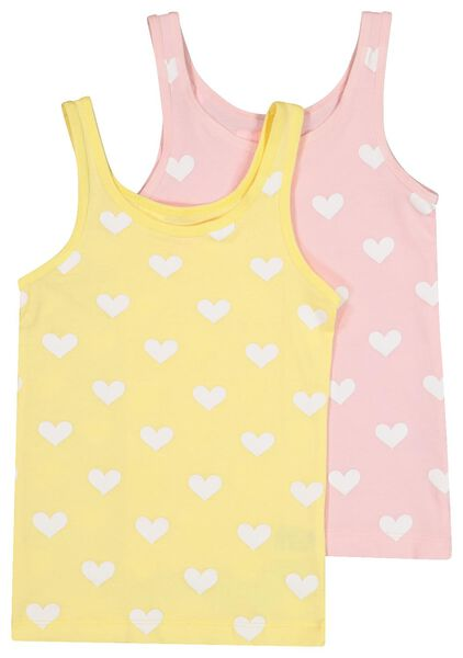 2-pak kinderhemden geel 134/140 - 19390334 - HEMA