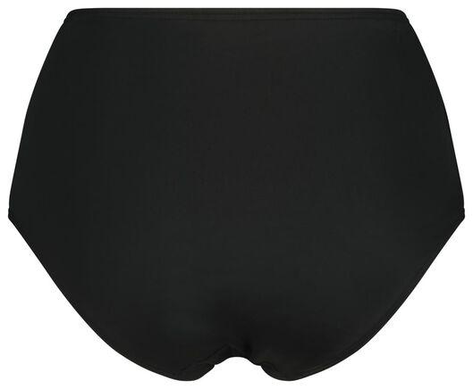 dames bikinibroekje hoog corrigerend zwart XXL - 22341265 - HEMA