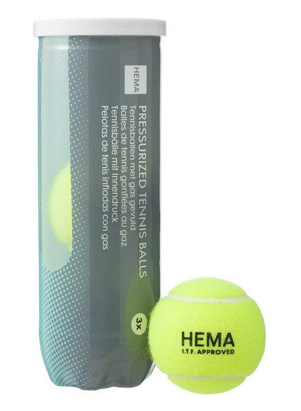 tennisballen set van 3 ballen - 34114075 - HEMA
