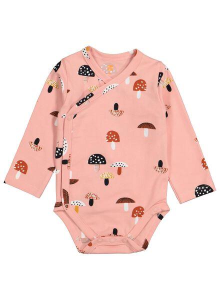 newborn overslagromper biologisch katoen roze roze - 1000015611 - HEMA