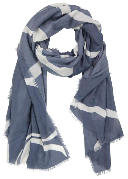 damessjaal 200x80 zebra blauw - 1780039 - HEMA