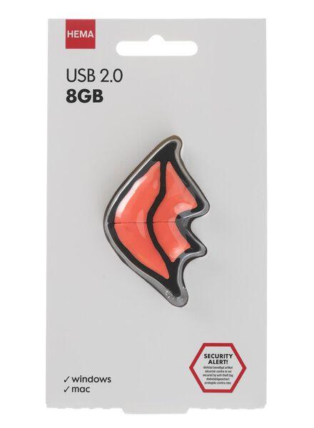USB-stick 8GB lippen - 39520027 - HEMA
