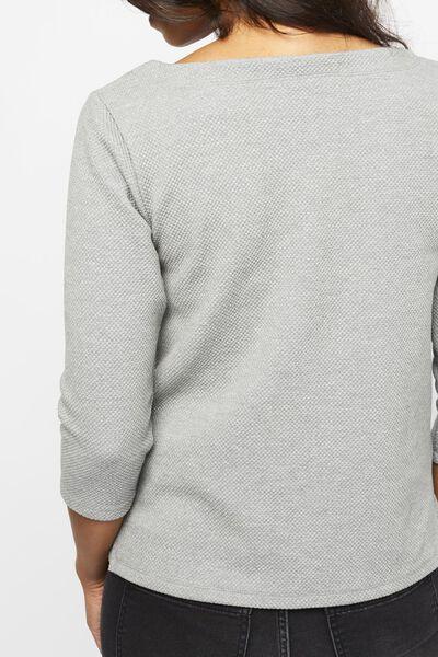 dames t-shirt structuur grijs - 1000021713 - HEMA
