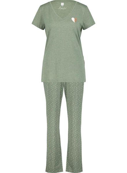 dames pyjama legergroen legergroen - 1000015507 - HEMA