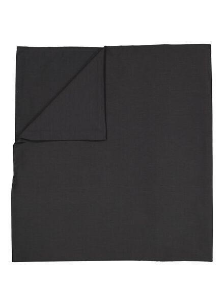 laken - 200 x 255 - zacht katoen - donkergrijs - 5100026 - HEMA