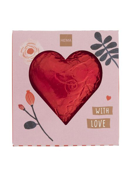 melkchocolade hart 40gram - 10050044 - HEMA