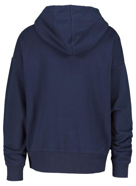 dames sweathoodie donkerblauw XL - 36245618 - HEMA