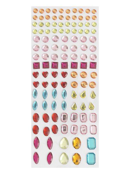 120-pak edelstenen stickers - 15990323 - HEMA
