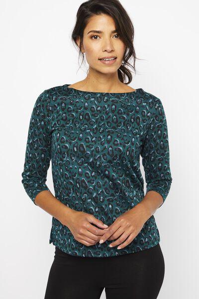 dames t-shirt groen groen - 1000022102 - HEMA