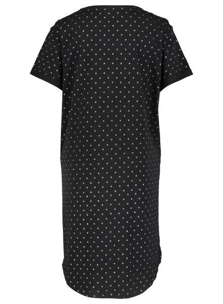 dames nachthemd zwart zwart - 1000015501 - HEMA