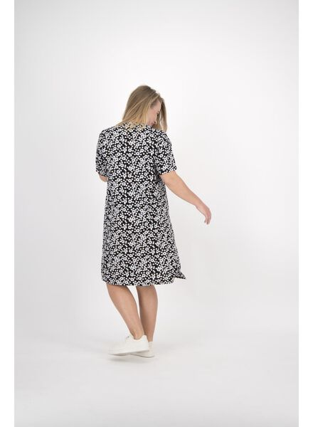 damesjurk zwart/wit zwart/wit - 1000014151 - HEMA