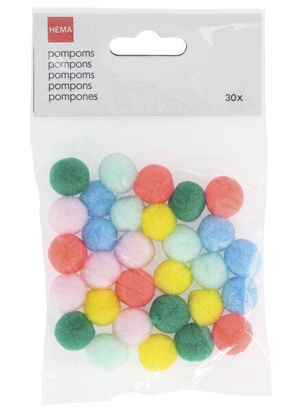 pompons 30 stuks - 14700255 - HEMA