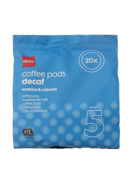 koffiepads cafeïnevrij - 20 stuks - 17100011 - HEMA