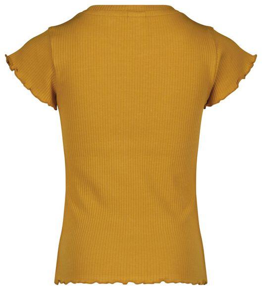 kinder t-shirt rib geel 98/104 - 30811244 - HEMA