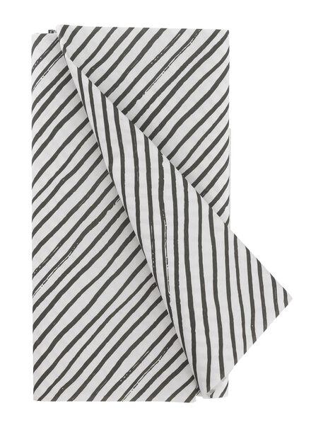 tafelkleed - 120 x 180 - papier - zwart/wit strepen - 14230046 - HEMA