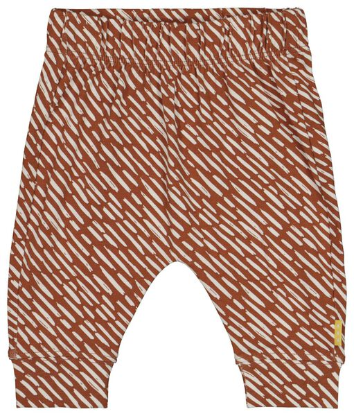 newborn broek bruin bruin - 1000018728 - HEMA