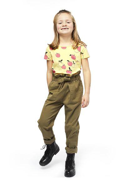 kinder t-shirt geel 98/104 - 30845139 - HEMA