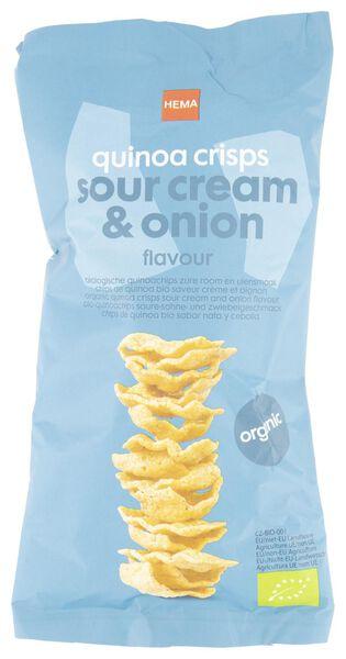 biologische quinoa chips - zure room en ui - 75 gr - 10639445 - HEMA