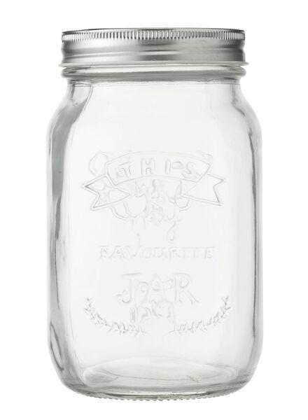 glazen pot 0.8 liter - 80810171 - HEMA