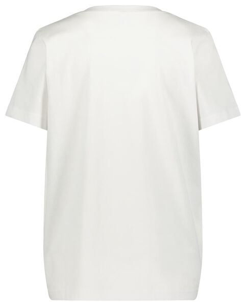 dames t-shirt wit wit - 1000023414 - HEMA