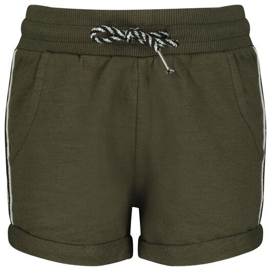 kinder sweatshort legergroen legergroen - 1000023149 - HEMA