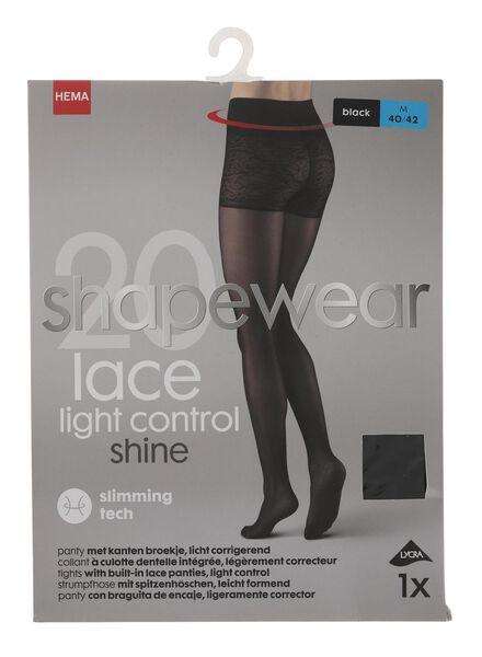 corrigerende panty 20 denier zwart zwart - 1000010418 - HEMA
