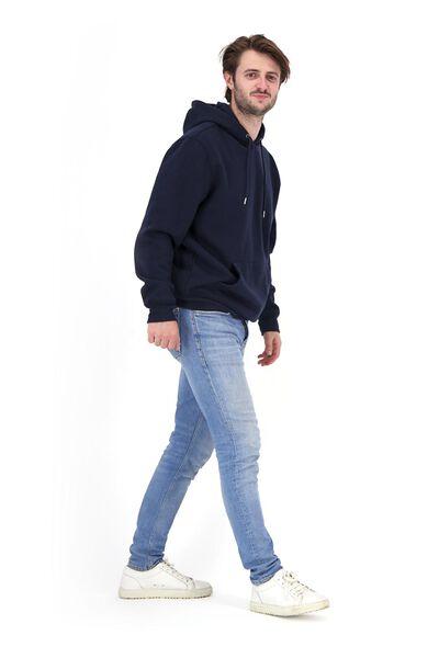 heren capuchonsweater donkerblauw XL - 34250740 - HEMA