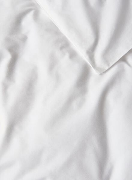 dekbedovertrek - hotel katoen percal - 200 x 200/220 cm - wit - 5700176 - HEMA