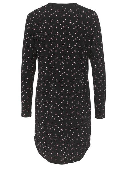dames nachthemd zwart - 1000010572 - HEMA