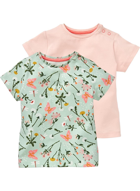 HEMA 2-pak Baby T-shirts Mintgroen (vert menthe)