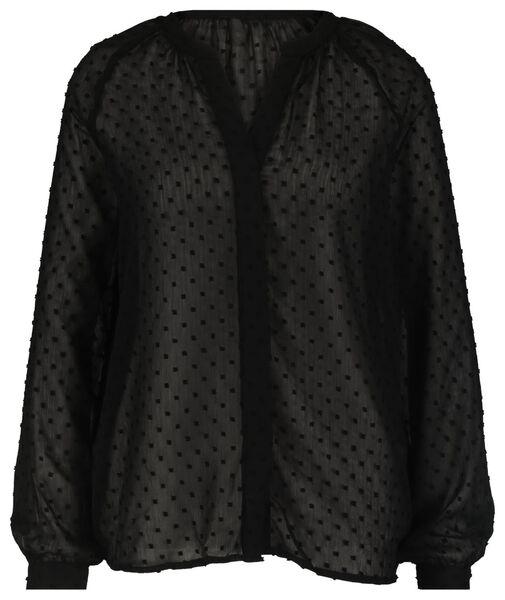 damesblouse zwart - 1000021749 - HEMA