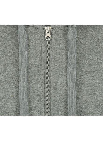heren sweatvest met capuchon grijs grijs - 1000014298 - HEMA