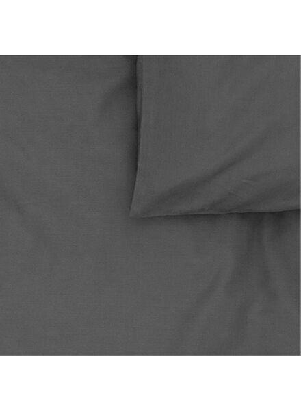 dekbedovertrek - zacht katoen - 240 x 220 cm - donkergrijs - 5700058 - HEMA