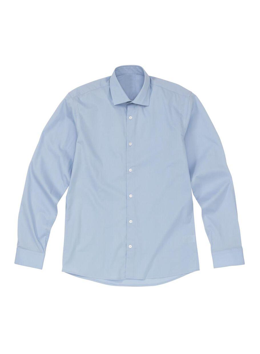 Slim Fit Heren Overhemd.Herenoverhemd Slim Fit Lichtblauw Hema