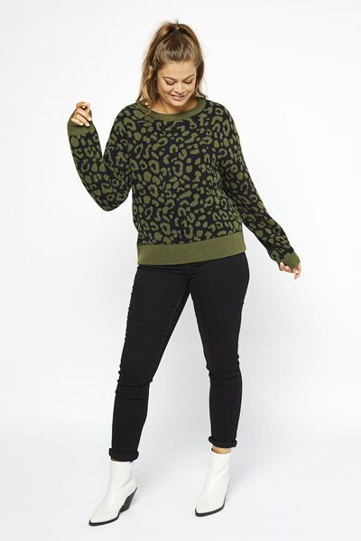 damestrui luipaard olijf - 1000020616 - HEMA