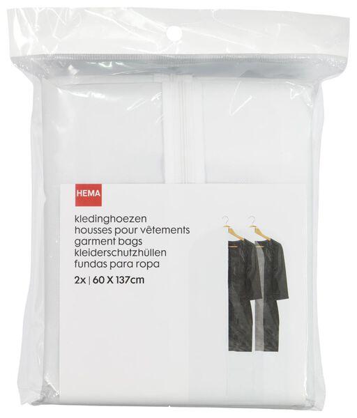kledinghoezen - wit - 2 stuks - 39890066 - HEMA