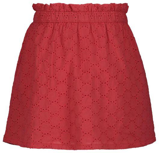 kinderrok borduur rood rood - 1000018373 - HEMA