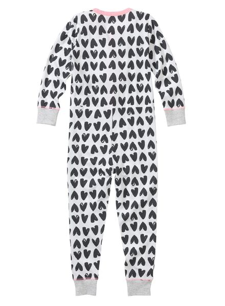 meisjes jumpsuit pyjama wit wit - 1000002829 - HEMA